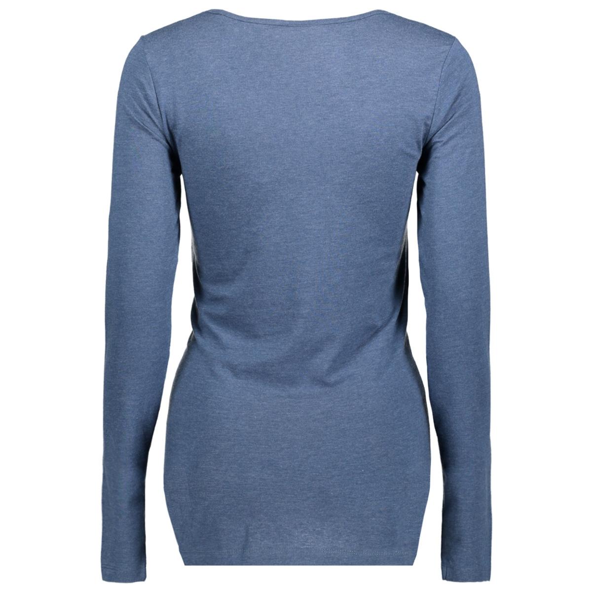 mlheartie l/s jersey top a 20008141 mama-licious positie shirt dark denim/melange an