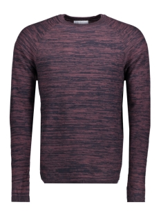 Jack & Jones Trui JCOSMASH KNIT CREW NECK 12124606 Fudge
