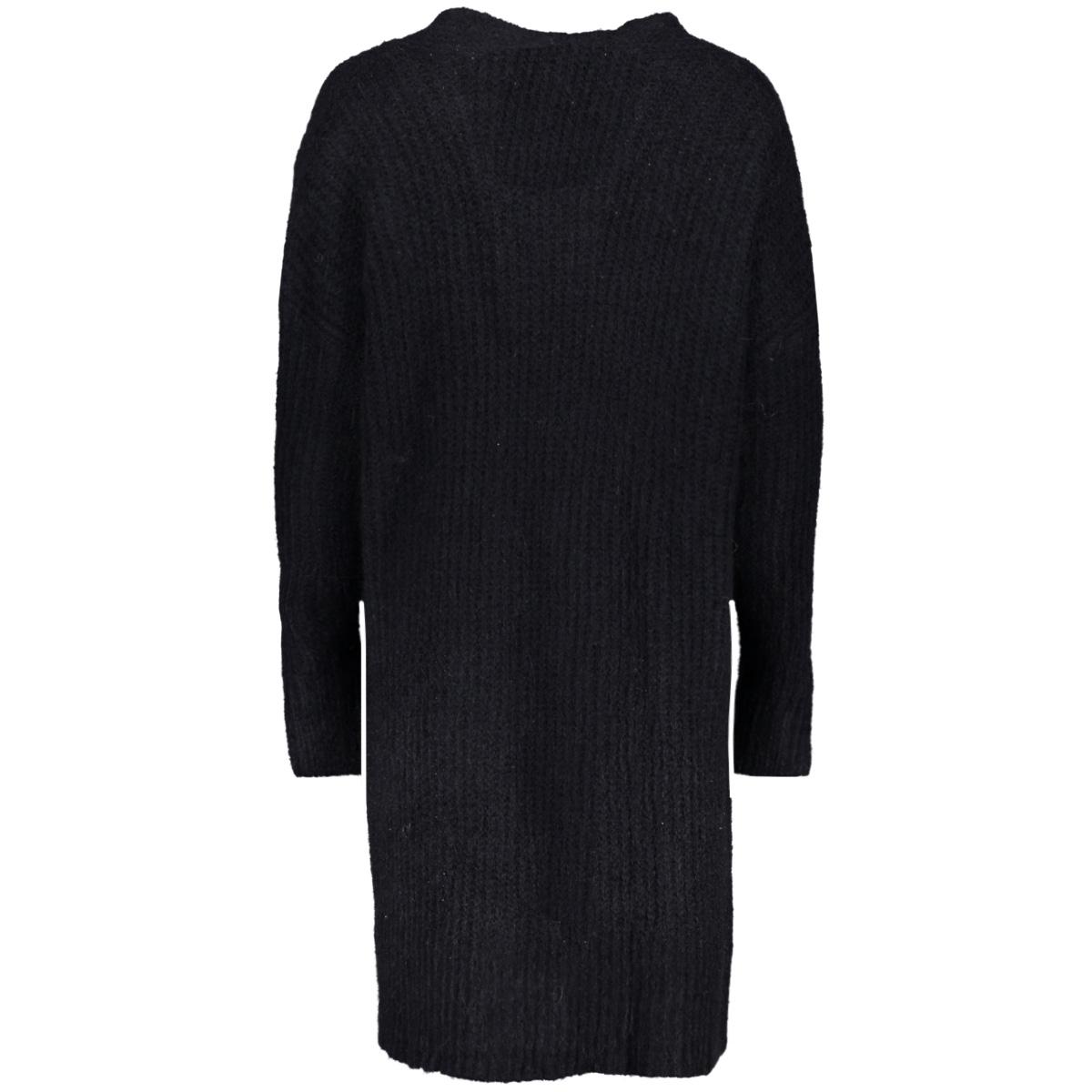 vmhelen ls long open cardigan 10183094 vero moda vest black beauty