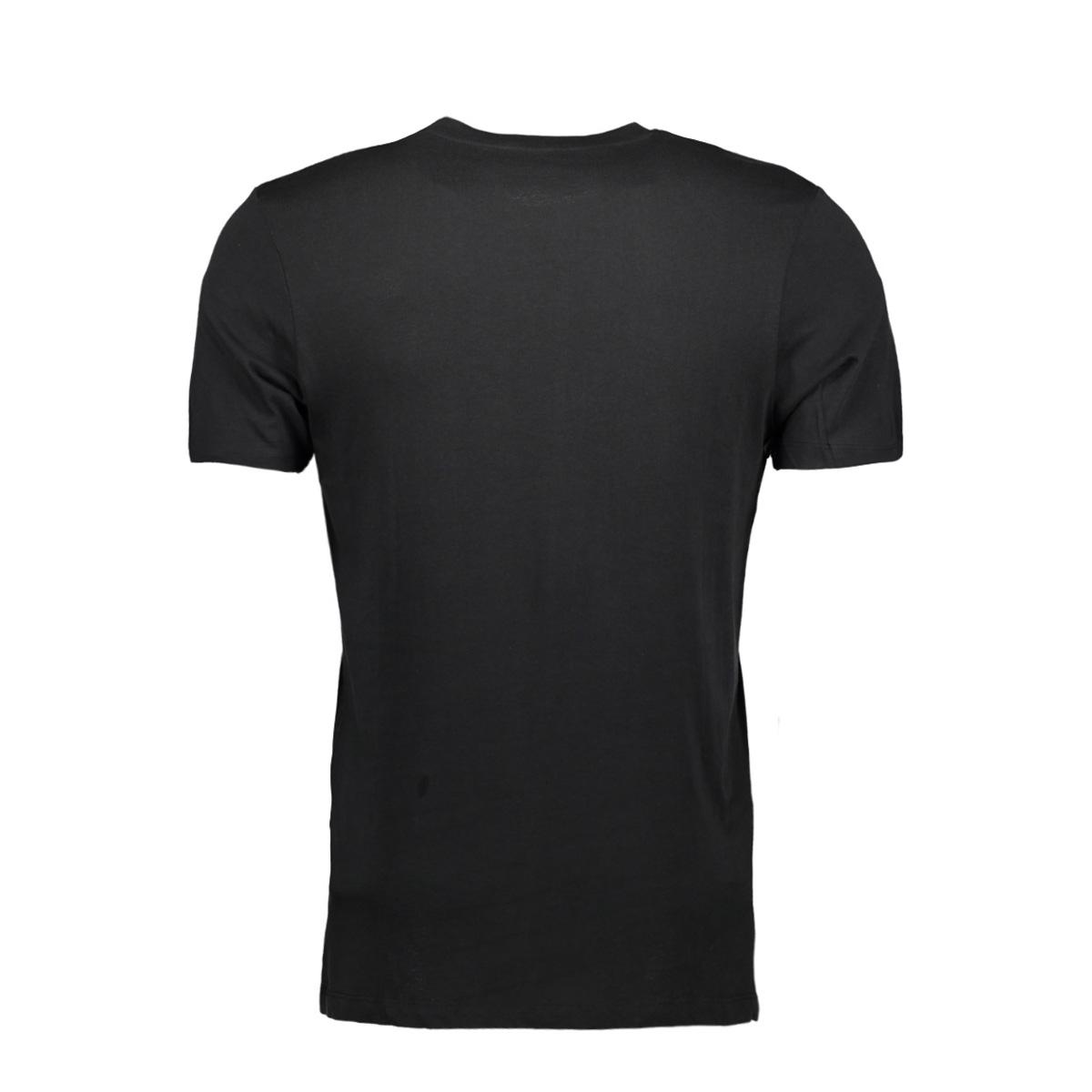jcobooster tee ss crew neck 0010 12135945 jack & jones t-shirt black