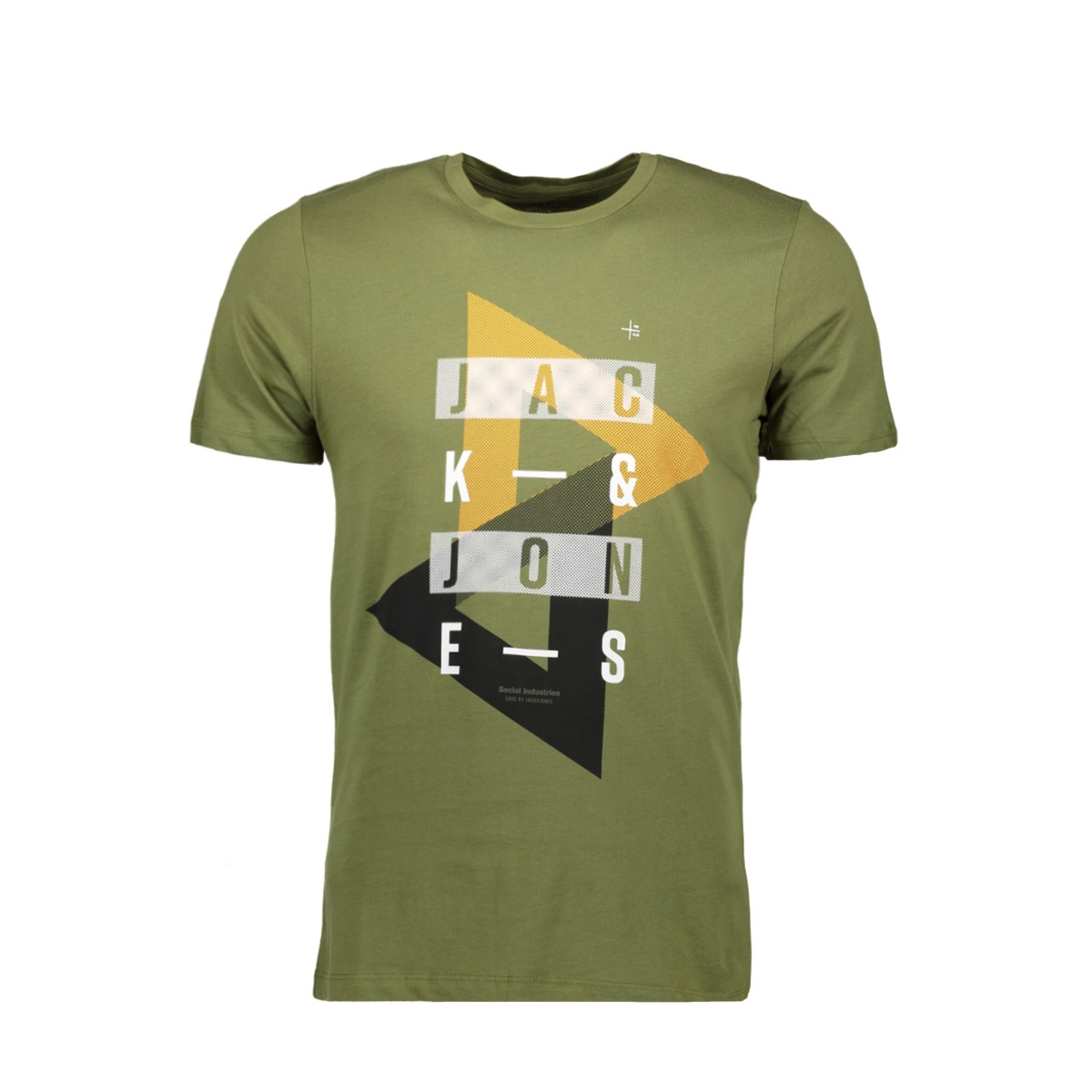 jcobooster tee ss crew neck 0010 12135945 jack & jones t-shirt capulet olive