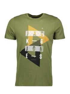 Jack & Jones T-shirt JCOBOOSTER TEE SS CREW NECK 0010 12135945 Capulet Olive