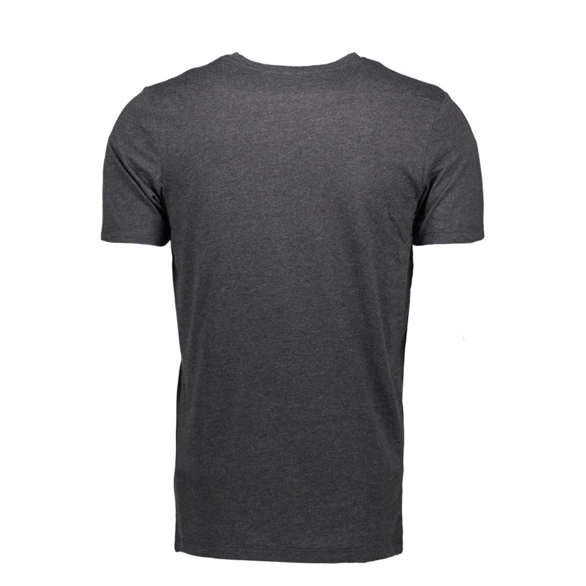 jcobooster tee ss crew neck 0010 12135945 jack & jones t-shirt dark grey