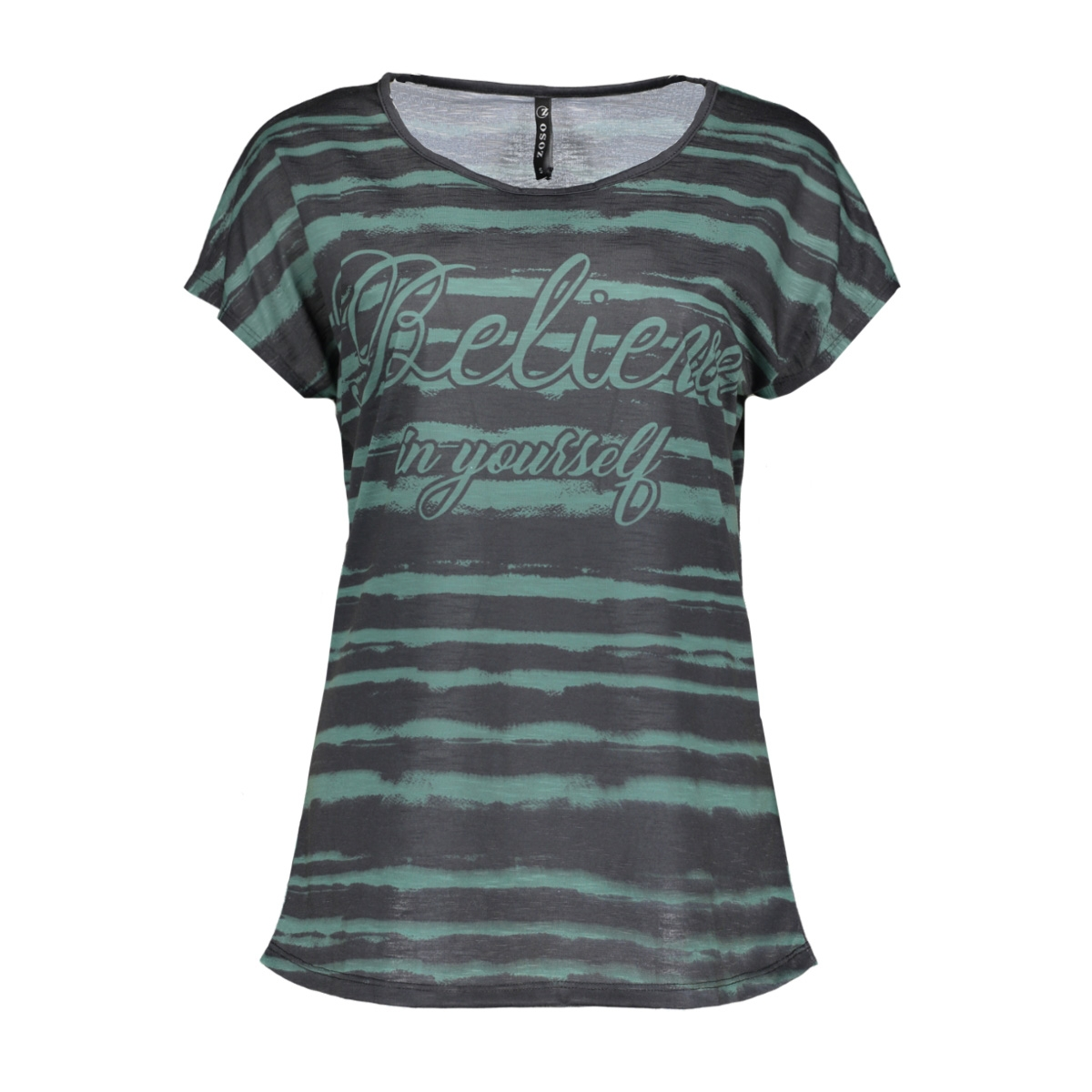 kim zoso t-shirt mint/black