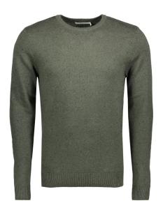 jpraiden knit crew neck 12117129 jack & jones trui forest night