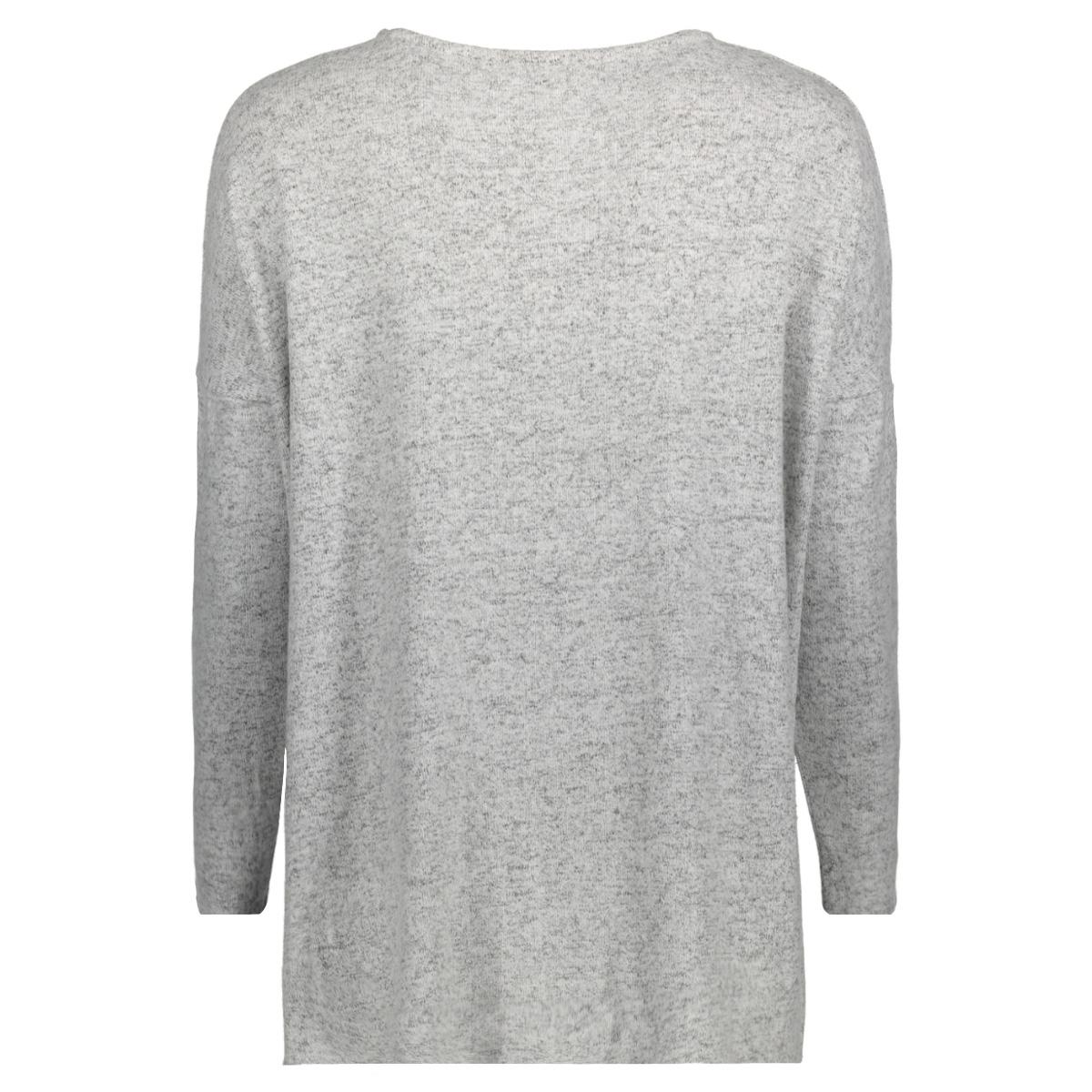 onlkleo l/s v-neck pullover knt noo 15148668 only trui light grey melange
