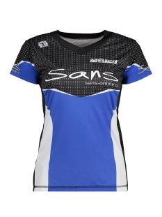 Sans Sport shirt 58124D RUNNING SHIRT V BLAUW WIT