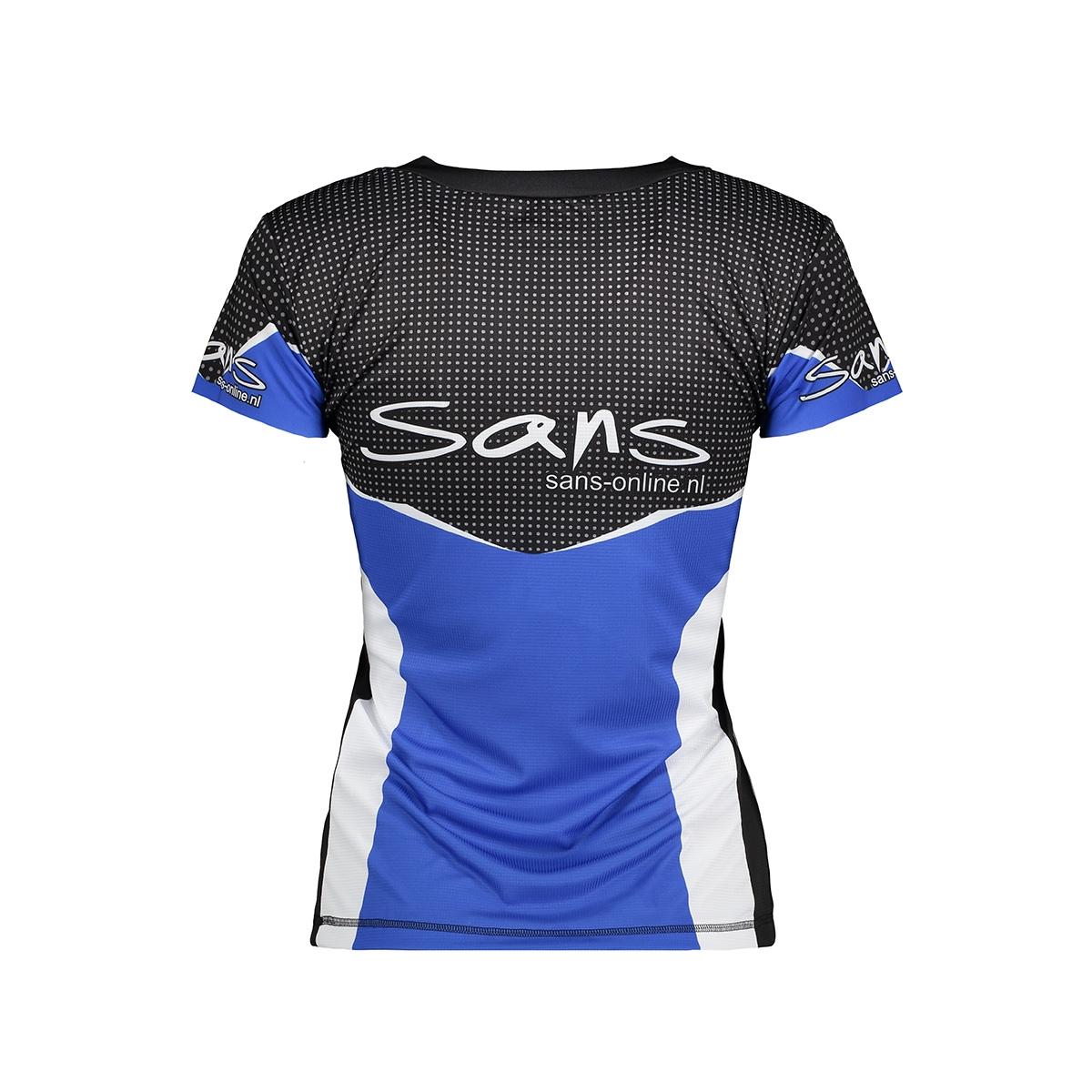 58124d running shirt v sans sport shirt blauw wit