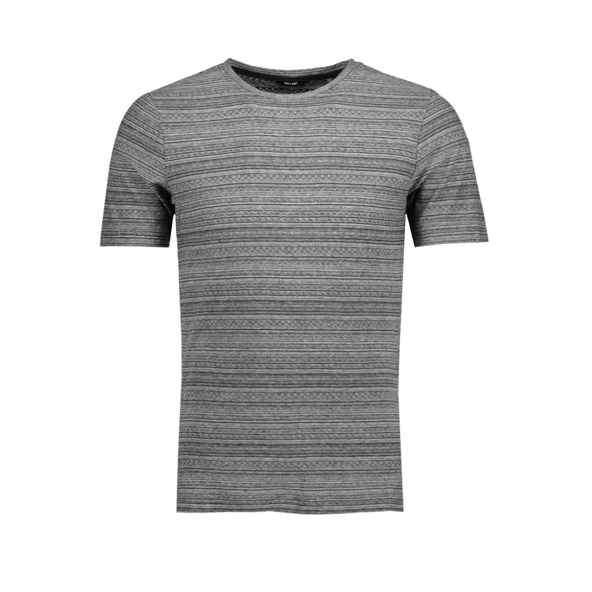 onsmarshall ss slim tee 22008023 only & sons t-shirt light grey melange