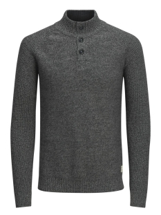 Jack & Jones Trui jjvHARRIS KNIT HIGH NECK GRANDDAD 12127568 Dark Grey