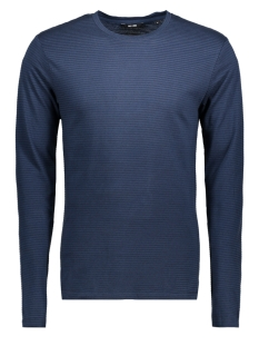 Only & Sons T-shirt onsARON LS FITTED TEE 22004604 Dress Blues