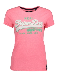 Superdry T-shirt G10008FP TRI ENTRY AS1 PINK