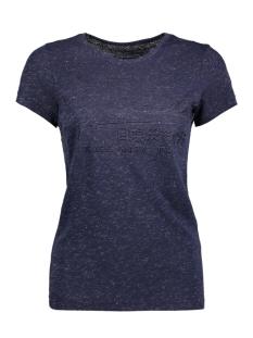 Superdry T-shirt G10023HP EMBOSS TEE VX0 SILVER