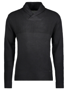 Jack & Jones Trui JCOLIVE KNIT SHAWL NECK 12120434 Black