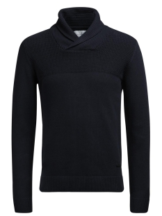 Jack & Jones Trui JCOLIVE KNIT SHAWL NECK 12120434 Sky Captain