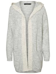 Vero Moda Vest VMLINBER LS HOOD CARDIGAN LCS 10185057 Light Grey Melange