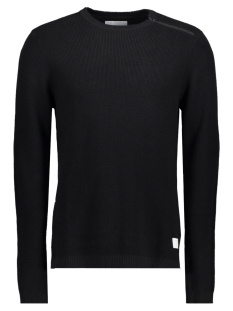 Jack & Jones Trui JCOOCTAVIO KNIT CREW NECK 12117161 Black