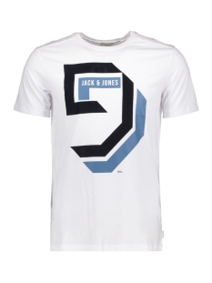 Jack & Jones T-shirt JCOMULLET TEE SS CREW NECK BF 12128848 White