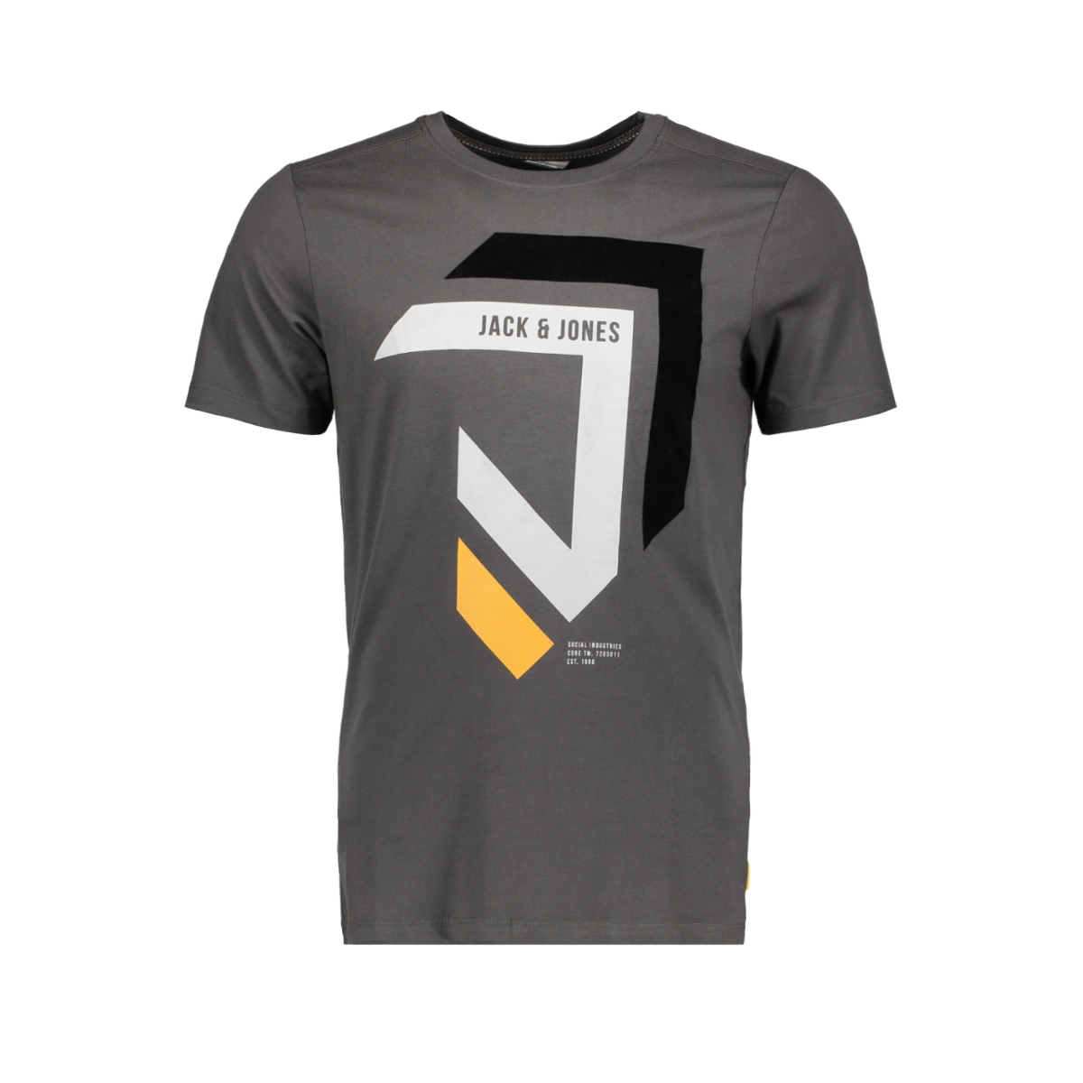 jcomullet tee ss crew neck bf 12128848 jack & jones t-shirt asphalt