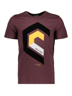 jcomullet tee ss crew neck bf 12128848 jack & jones t-shirt fudge