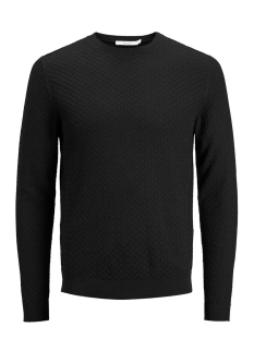Jack & Jones Trui JPREMIL KNIT CREW NECK 12129541 Black