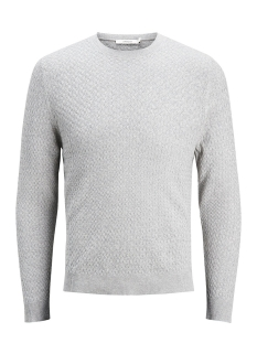 Jack & Jones Trui JPREMIL KNIT CREW NECK 12129541 Grey Melange