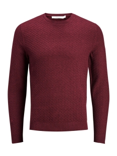 Jack & Jones Trui JPREMIL KNIT CREW NECK 12129541 Tawny Port