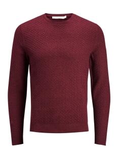 jpremil knit crew neck 12129541 jack & jones trui tawny port
