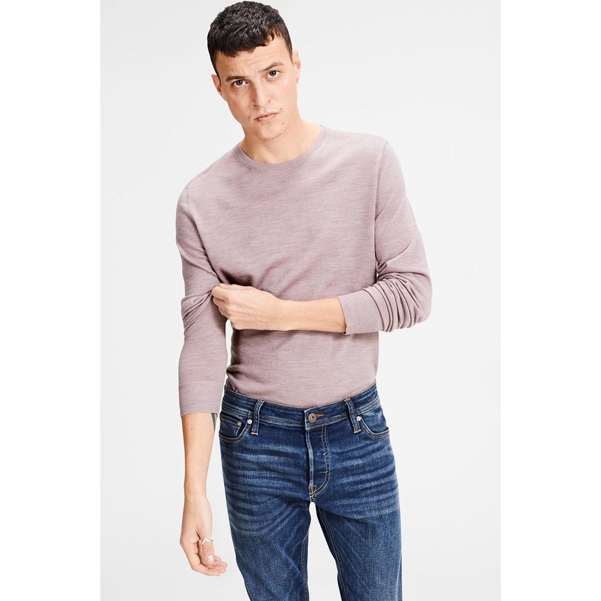 jprmark knit crew neck noos 12109976 jack & jones trui toadstool/melange