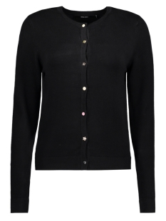 Vero Moda Vest VMCHRISTY LS BUTTON CARDIGAN LOC 10188046 Black Beauty
