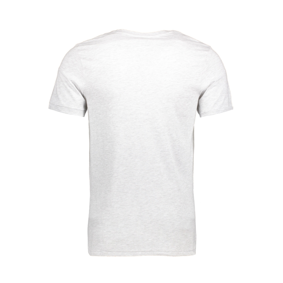 jorcustom tee ss crew neck dec 12138567 jack & jones t-shirt white melange