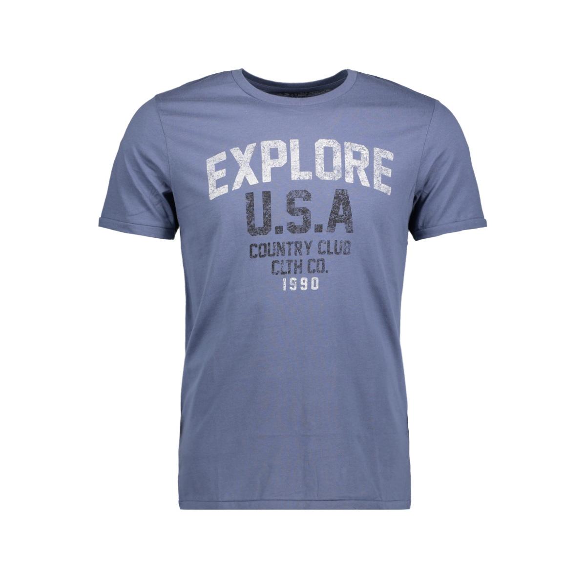 jorcustom tee ss crew neck dec 12138567 jack & jones t-shirt vintage indigo