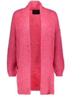 Only Vest onlLARKE L/S LONG CARDIGAN KNT 15147573 Viritual Pink/W CLOUD DA