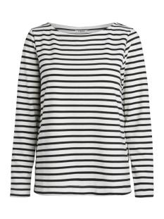 Pieces T-shirt PCINGRID LS TOP NOOS 17087007 Bright White/ Black