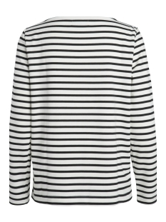 pcingrid ls top noos 17087007 pieces t-shirt bright white/ black