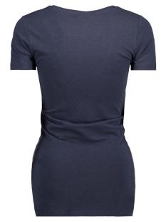 mlellie s/s jersey top a. v 20006942 mama-licious positie shirt black iris/melange
