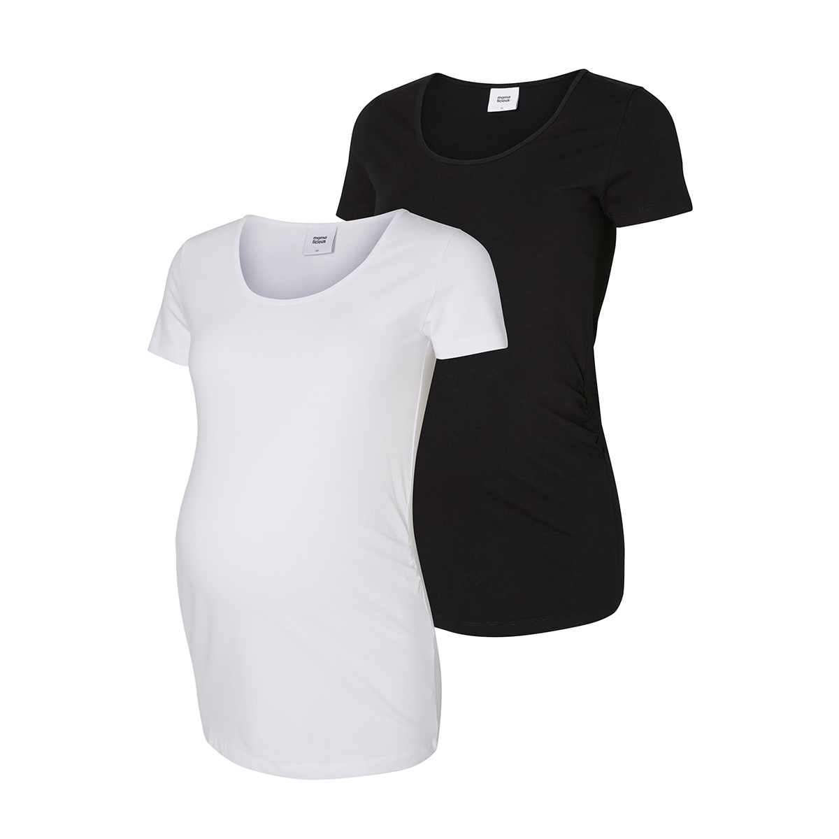 mllea organic s/s top 2pack 20006296 mama-licious positie shirt black/packed w s