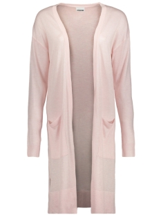Noisy may Vest NMBECCA L/S LONG KNIT CARDIGAN CLR 27001083 Barely pink