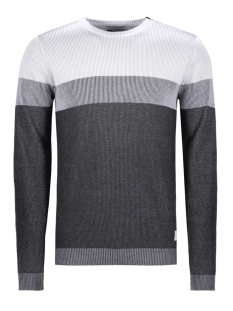 Jack & Jones Trui JCOCOLLINS KNIT CREW NECK CAMP 12131978 Dark Grey Melange
