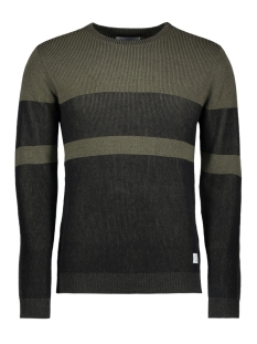 Jack & Jones Trui JCOCOLLINS KNIT CREW NECK CAMP 12131978 Grape Leaf