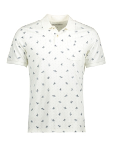 Jack & Jones Polo JPRWINSTON AOP SS POLO 12-1 12136847 Cloud Dancer