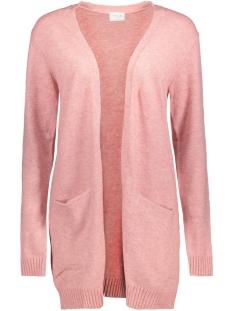 viril l/s  open knit cardigan-noos 14044041 vila vest bridal rose/melange