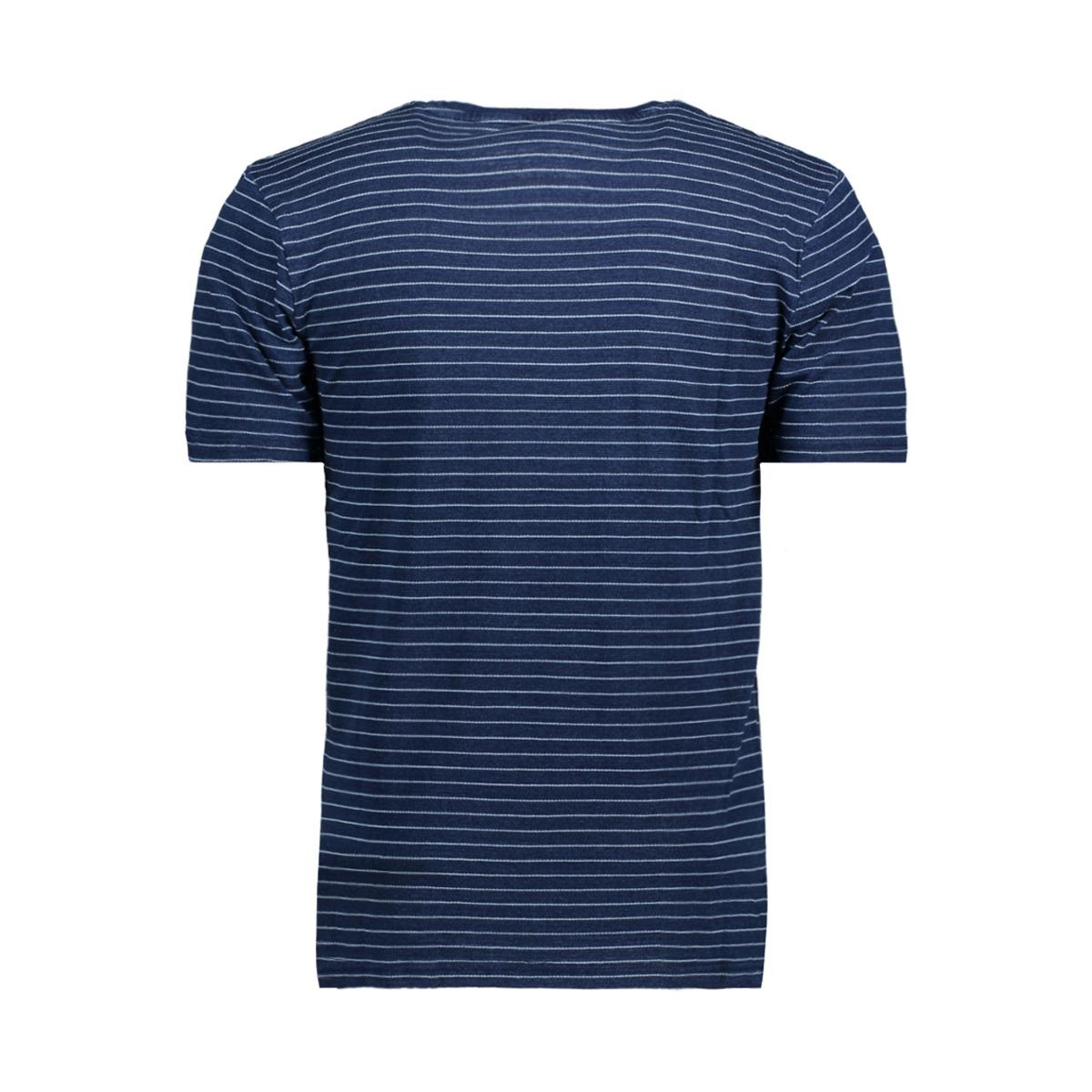 onsindigo chi stripe tee 22009336 only & sons t-shirt dark blue denim