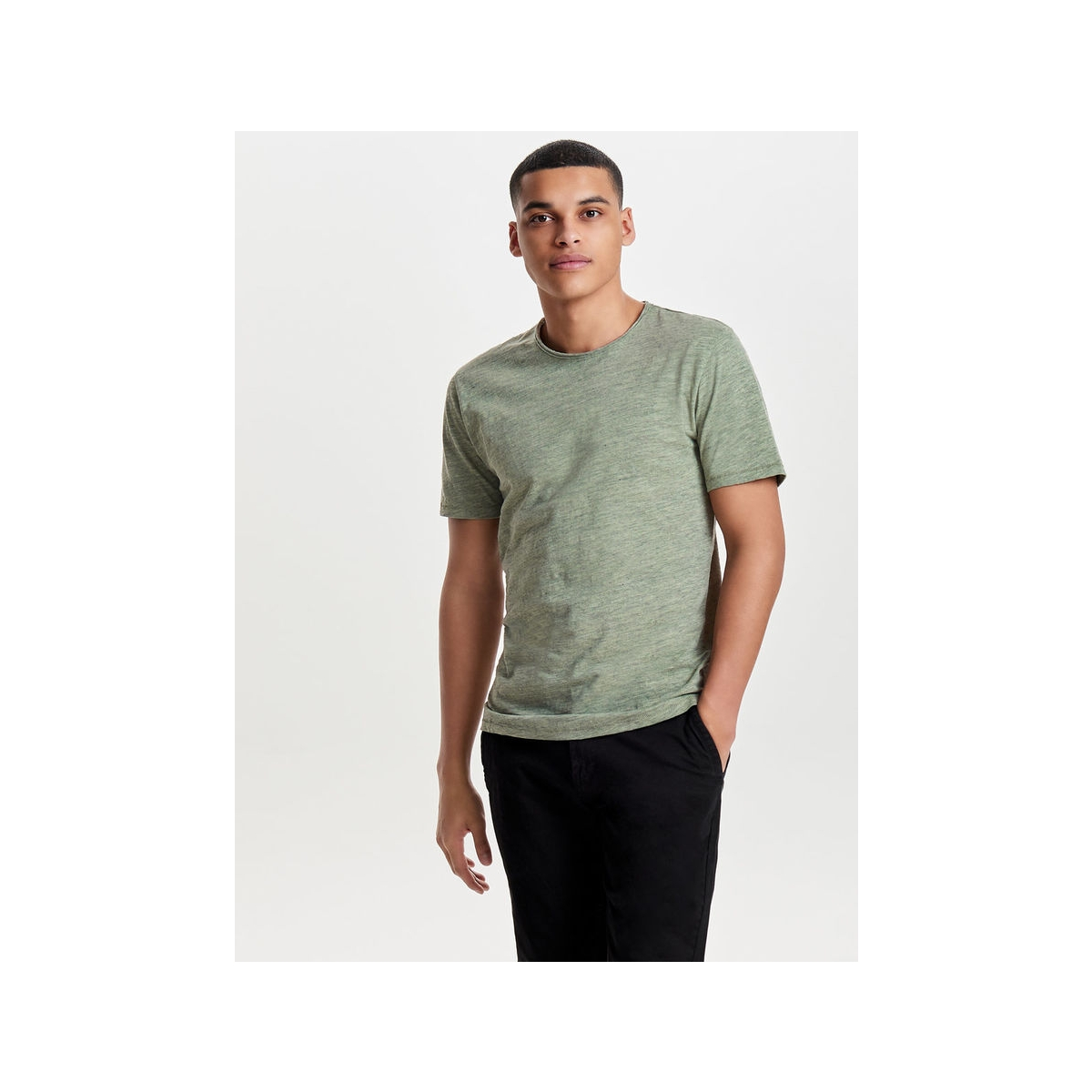 onsalbert new ss tee noos 22005108 only & sons t-shirt seagrass