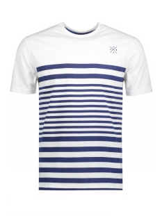 onssympson stripe fitted tee 22009381 only & sons t-shirt white/sodalite blue