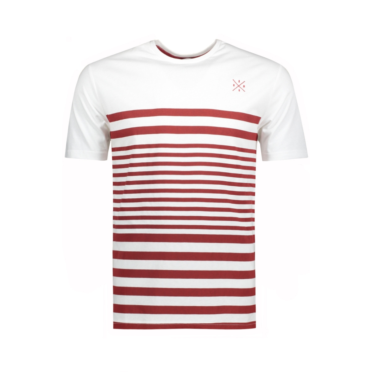 onssympson stripe fitted tee 22009381 only & sons t-shirt white/red dahlia