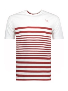 Only & Sons T-shirt onsSYMPSON STRIPE FITTED TEE 22009381 White/Red Dahlia