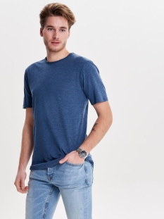 onsalbert new ss tee noos 22005108 only & sons t-shirt ensign blue