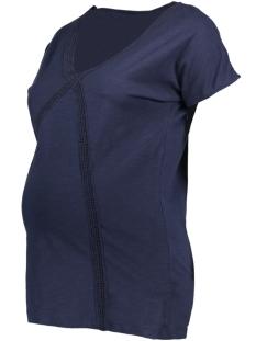 Mama-Licious Positie shirt MLALANYA S/S JERSEY TOP A. 20008247 Black Iris