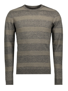 Jack & Jones Trui jprNIGEL KNIT CREW NECK 12136825 Caviar